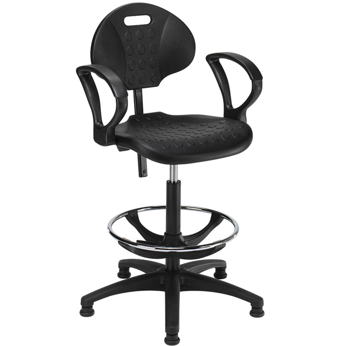 Draughtsmans Chair with Seat and Back  plastic computer